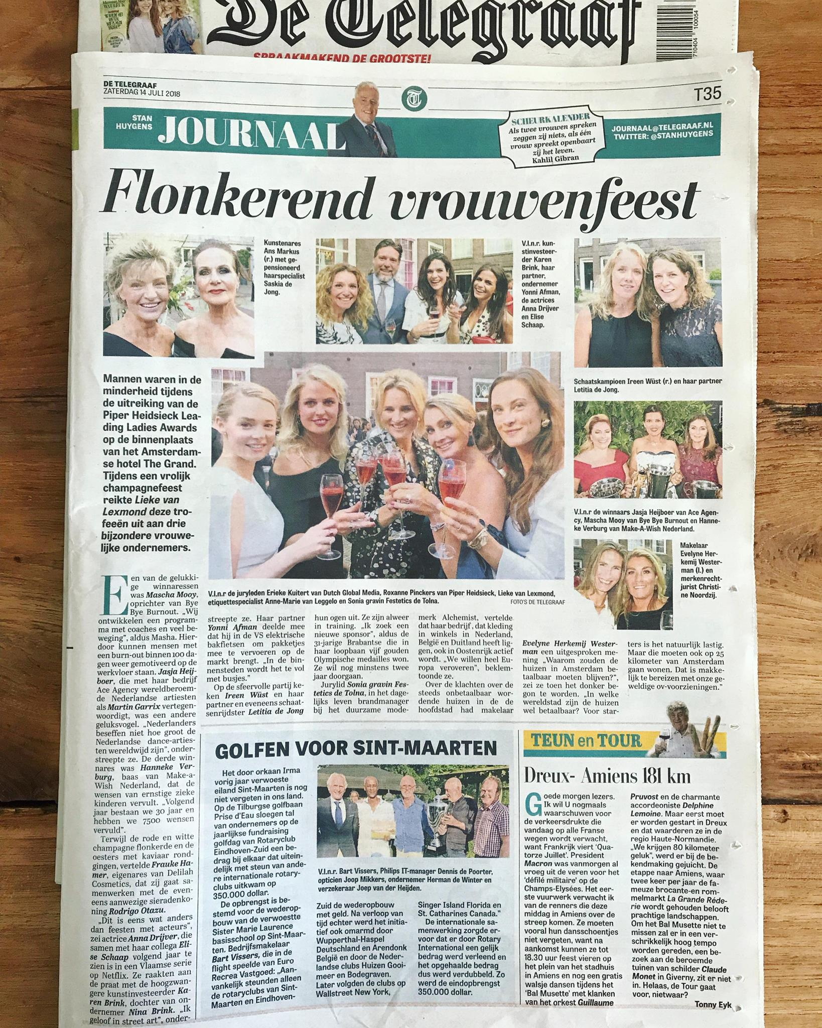 Telegraaf leading ladies 10-7-2018